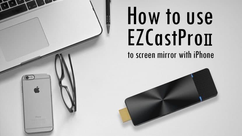 iPhone wireless presentation with EZCast Pro II