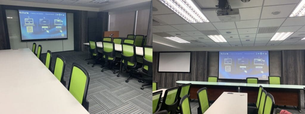 FCF meeting room with multiple wireless projectors