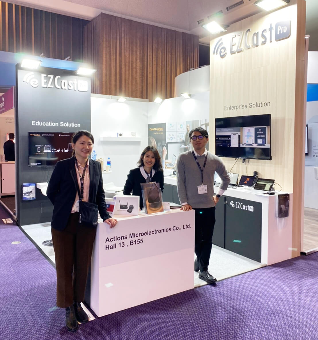 EZCast Pro booth at ISE 2020