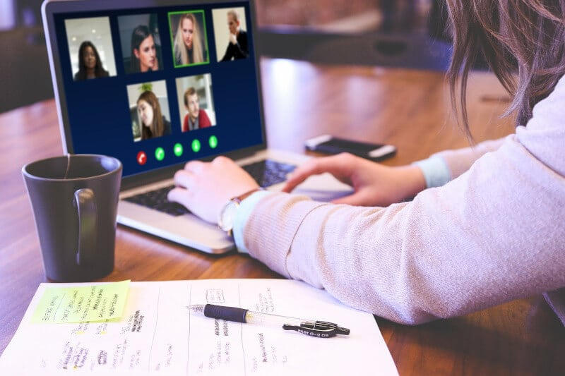 video conference, video call, online meeting, remote work, huddle room