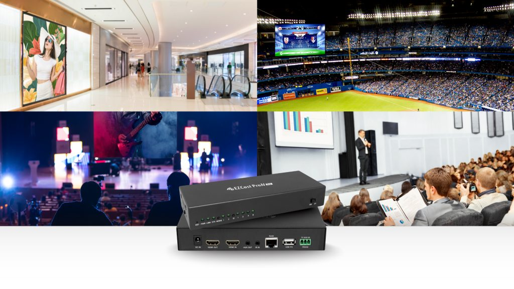 EZCast Pro AV products can be used in airports, stadiums, auditoriums, presentations and more!